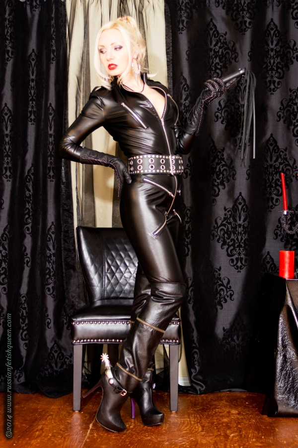 Alya leather catsuit